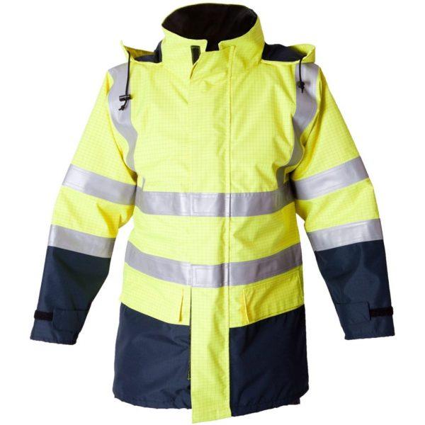 FR & Antistatic Hi Vis Waterproof Jacket (ETF1901AE)