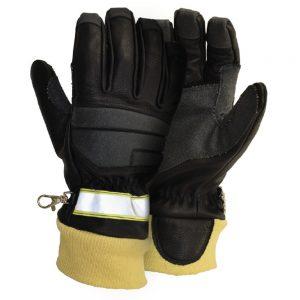 Leather / Kevlar® Firefighter Gloves with Hi Vis (ETF309V5)